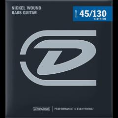 Dunlop DBN45130 filé rond nickel medium 5 cordes - Vue 1