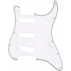 Yellow Parts Pickguard blanc 3 plis type stratocaster® - Vue 1