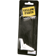Yellow Parts Chevilles plastiques blanches pour guitare folk - lot de 6 - Vue 1