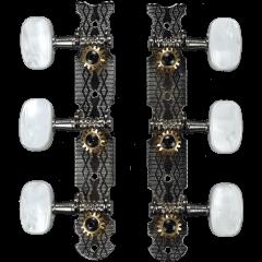 Yellow Parts Mécaniques platines nickel boutons plast. - lot de 2 (3+3) - Vue 1