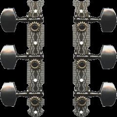 Yellow Parts Mécaniques platines nickel boutons chromés - lot de 2 (1+1) - Vue 1
