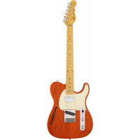 G&L Tribute ASAT Classic Bluesboy Semi Hollow Clear Orange - Vue 1