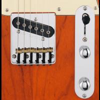 G&L Tribute ASAT Classic Bluesboy Semi Hollow Clear Orange - Vue 4