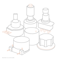 Lâg Mécanique droite noir satin pour électro-acoustique - Vue 1