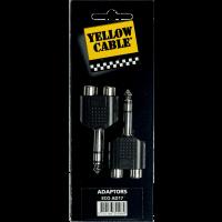 Yellow Cable Adaptateur jack 6,35 mm stéréo male 2 rca fem. - lot de 2 - Vue 1