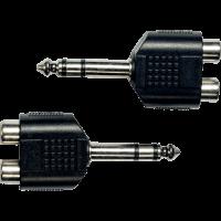 Yellow Cable Adaptateur jack 6,35 mm stéréo male 2 rca fem. - lot de 2 - Vue 2
