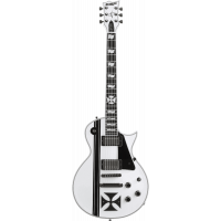 Ltd James Hetfield Ironcross snow white - Vue 1