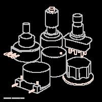 Nord Bouton de potentiomètre avec trait - Vue 1