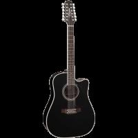 Takamine EF381SC black 12-cordes - Vue 1