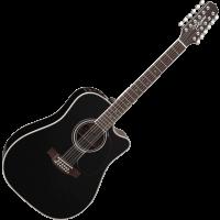 Takamine EF381SC black 12-cordes - Vue 2
