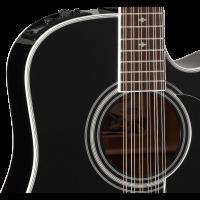 Takamine EF381SC black 12-cordes - Vue 3