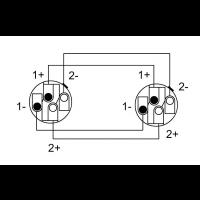 Cordial Câble h.p. Speakon 4 points 1,5 m - Vue 2