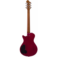 Hagstrom Ultra Swede Essential wild cherry transparent - Vue 3