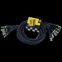 Yellow Cable Octopaire 8 jacks mono 8xlr fem. 5 m - Vue 2