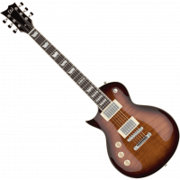 LTD EC-256FMLH dark brown sunburst gaucher - Vue 2