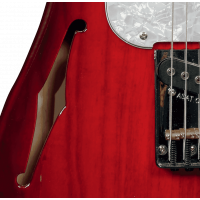 G&L Tribute ASAT Classic Bluesboy Semi Hollow Redburst - Vue 4