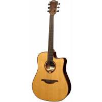 Lâg T118DCE Dreadnought cutaway electro - Vue 1