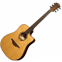 Lâg T118DCE Dreadnought cutaway electro - Vue 2