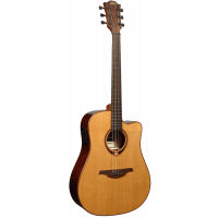 Lâg T118DCE Dreadnought cutaway electro - Vue 3