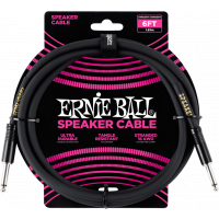 Ernie Ball Cables haut-parleur classic jack/jack 183cm noir - Vue 1
