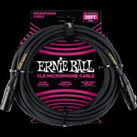 Ernie Ball Cables microphone classic xlr mâle/xlr fem 7,62m noir - Vue 1