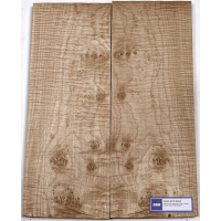 Lutherie Erable - 4A burl maple 530x190x30x2 - Vue 1