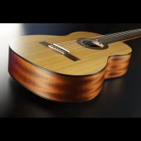 Santos Y Mayor Guitare classique naturelle 4/4 - GSM 7  - Vue 5