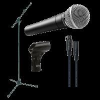 Shure SM58 - Pack avec câble XLR/XLR et pied - Vue 1