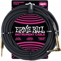 Ernie Ball Jack/jack coudé 5,50m noir - Vue 1