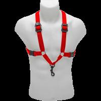 BG Harnais rouge pour saxo - mousqueton - homme - Vue 1