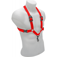 BG Harnais rouge pour saxo - mousqueton - homme - Vue 2