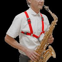 BG Harnais rouge pour saxo - mousqueton - homme - Vue 4