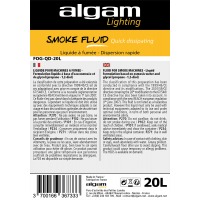 Algam Lighting Liquide à fumée, dispersion rapide 20 litres - Vue 2