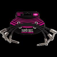 Ernie Ball Cables instrument patch pack de 3 - coudé fin & plat - 15 cm - Vue 1