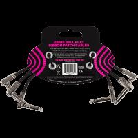 Ernie Ball Cables instrument patch pack de 3 - coudé fin & plat - 15 cm - Vue 2