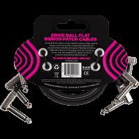 Ernie Ball Cables instrument patch pack de 3 - coudé fin & plat - 30 cm - Vue 2