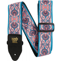 Ernie Ball Sangle jacquard pink paisley - Vue 1