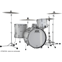 Pearl President Phonelic 3 fûts rock Pearl White Oyster - Vue 1