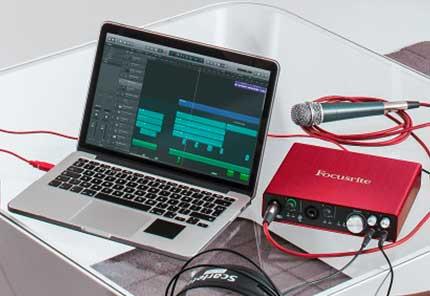 Histoire matériel audio Focusrite